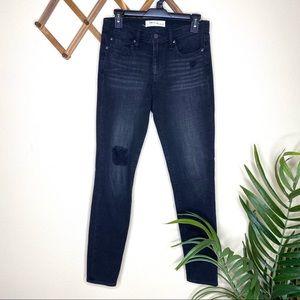 GAP Black Distressed True Skinny Jeans